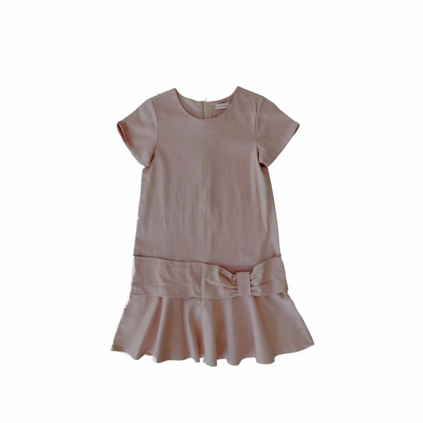 Elodiee Elle dress satin weave rose